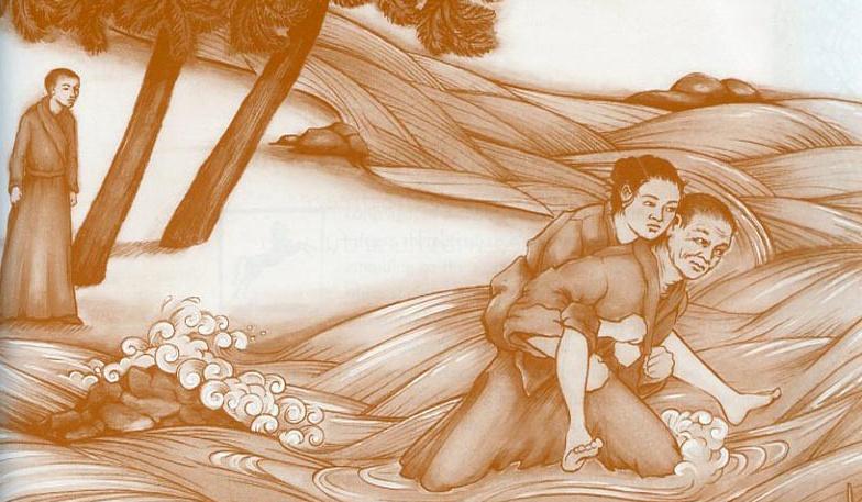 Het verhaal van de twee monniken en de vrouw