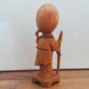 Vintage houten beeldje taoïstische wijsgeer Shou Xing 10