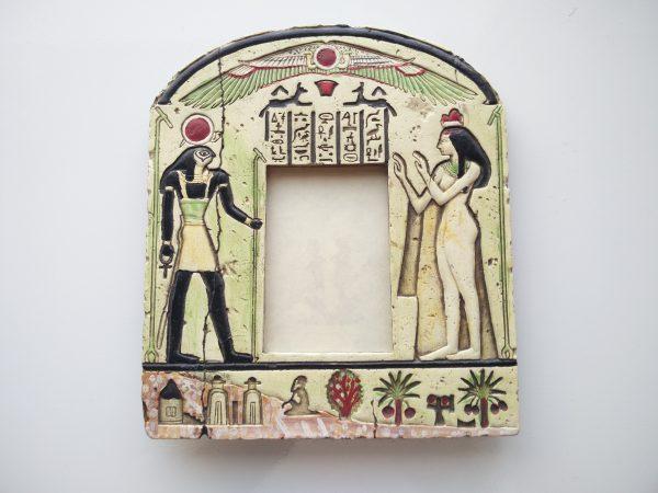 Vintage Fotolijst in Egyptische stijl met Horus en Isis 2